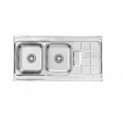 BS 510 سینک ظرفشویی استیل روکار بیمکث مدل