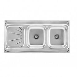 BS 513 سینک ظرفشویی استیل روکار بیمکث مدل