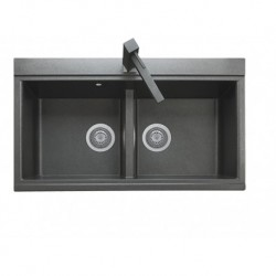 LX 8620  سینک ظرفشویی گرانیتی شیشه ای توکار بیمکث مدل
