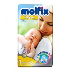 پوشک مولفیکس مدل دوقلو سایز 1 بسته 42 عددی Molfix Twin Baby Size 1 Diaper Pack of 42