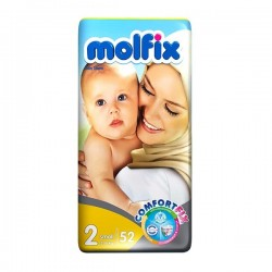 پوشک مولفیکس مدل دوقلو سایز 2 بسته 52 عددی Molfix Twin Size 2 Diaper Pack of 52